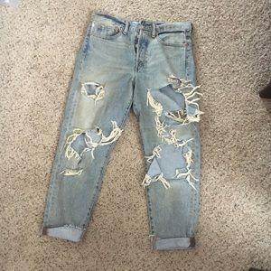 Limited edition rolling stone Levi's destroyed 30